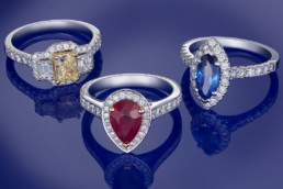 Nationwide diamond jewellery advertising photographer