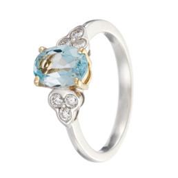 Aquamarine diamond white gold diamond jewellery photographer