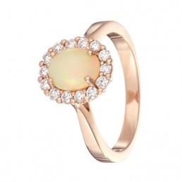 Opal rose gold diamond jewellery photographer